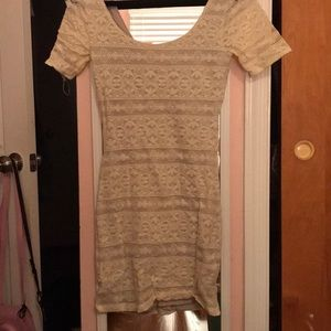 Lace Abercrombie body con dress, size small